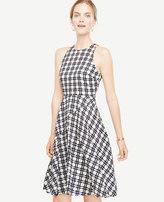 Ann Taylor Plaid Flare Dress