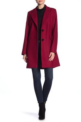 Sam Edelman Blazer Flap Pocket Wool Blend Coat