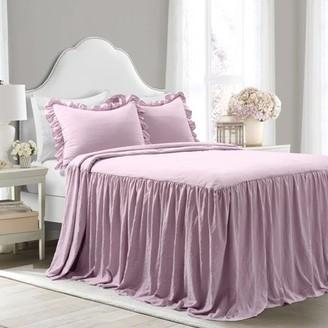Lush Decor Ruffled Skirt Purple Bedspread Set