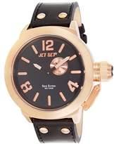Jet Set – j1142r-267 – San Remo – Men's Watch – Analogue Quartz – Black Dial – Black Leather Strap