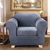 Sure Fit Stretch Stripe Armchair Slipcover