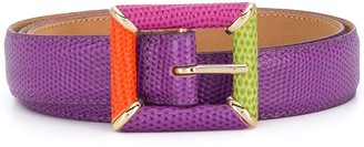 Etro Colour Block Buckle Belt