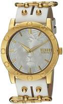 Versus By Versace Women's 'MIAMI' Quartz Stainless Steel and Leather Casual Watch, Color:White (Model: S72030016)