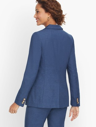 Talbots Luxe Italian Flannel Blazer