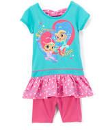 Children's Apparel Network Shimmer & Shine Pink Ruffle Top & Leggings - Toddler & Girls