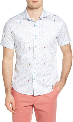 Robert Graham Car Wash Slim Fit Short Sleeve Button-Up Shirt