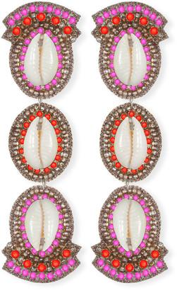 Suzanna Dai Puka Shell Linear Drop Earrings
