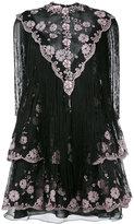 Giamba frayed lace dress