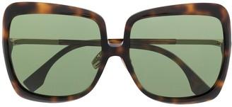 Fendi Eyewear Oversized Tortoiseshell Sunglasses