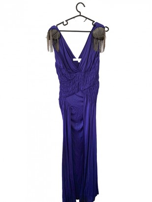 Christian Dior Purple Silk Dresses