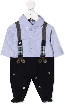 Lapin House Shirt-Panelled Pajamas