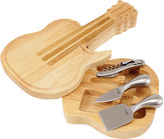 Picnic Time Guitar Cheeseboard with Tools