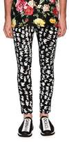 Dolce & Gabbana Graphic-Pattern Skinny Denim Jeans