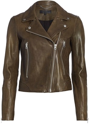 Rag & Bone Mack Lamb Leather Moto Jacket