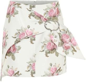 Paco Rabanne Floral cotton-blend miniskirt