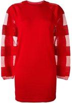 MM6 MAISON MARGIELA semi-sheer sleeve sweater dress
