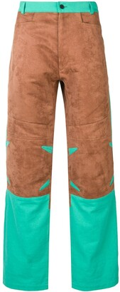 Mackintosh 0004 Chestnut & Turquoise 0004 Technical Trousers