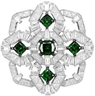 Adriana Orsini Azlyn Rhodium-Plated Sterling Silver & Cubic Zirconia Brooch