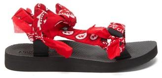 Arizona Love Trekky Choux Bandana-trimmed Sandals - Red