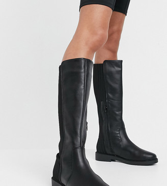 ASOS DESIGN Wide Fit Carson chunky flat knee boots