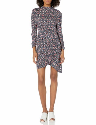 Rebecca Taylor Women's Long Sleeve Floral Print Short Dress with Adjustable Tie Waist