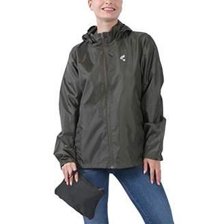 THE PLUS PROJECT Womens Waterproof Lightweight Rain Jacket Active Outdoor Hooded Raincoat XL