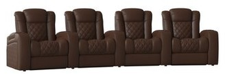 Red Barrel Studioâ® Continental HR Series Home Theater Row Seating (Row of 4) Red Barrel StudioA Body Fabric: Luxe Cognac
