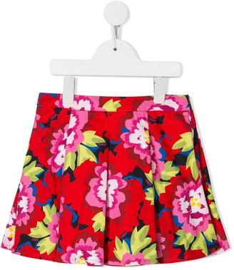 Kenzo Kids Floral Print Pleated Skirt