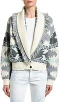 Alanui Icon Jacquard Bomber Sweater