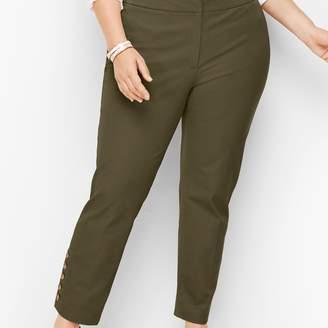 Talbots Plus Size Hampshire Button-Hem Ankle Pants