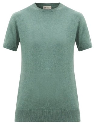 Connolly - Knitted Cashmere T-shirt - Womens - Khaki