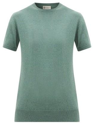 Connolly - Round-neck Short-sleeved Cashmere Sweater - Khaki