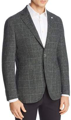 L.B.M Washed Cotton & Linen Plaid Slim Fit Sport Coat