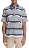 Paul & Shark Men's Stripe Pique Polo