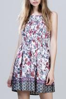 En Creme Floral Print Dress