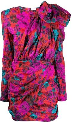 Magda Butrym Textured Floral Print Minidress