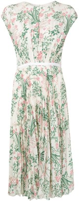 Giambattista Valli Floral-Pattern Pleated Dress