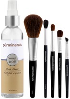 PUR Cosmetics Pro Tools 5-Piece Brush Set with Cleaner
