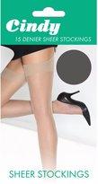 Cindy Womens/Ladies 15 Denier Sheer Stockings (1 Pair) (Storm Grey)
