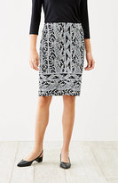 J. Jill Wearever Paisley Pencil Skirt