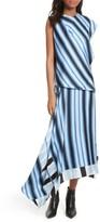 Diane von Furstenberg Women's Asymmetrical Stripe Silk Maxi Dress