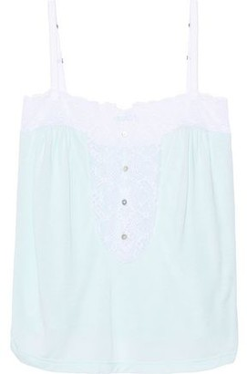 Eberjey Lace-trimmed Modal-jersey Pajama Top