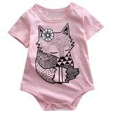 honeys Infant Baby Boy Girl Fox Pattern Romper Onesie Bodysuit for 0-18Month (M(6-12months), )