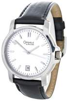 Bulova White Dial Leather Band Womens Watch