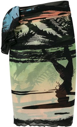 Jean Paul Gaultier Pre Owned Sheer Printed Pareo
