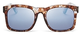 Wildfox Couture Gaudy Square Mirrored Sunglasses, 54mm
