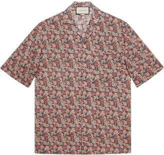 Gucci Liberty floral bowling shirt