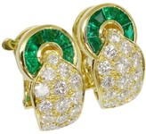 Mauboussin 18K Yellow Gold Emerald & Diamonds Ear Clips