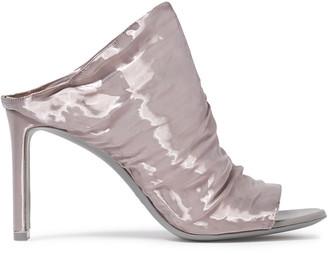 Nicholas Kirkwood Ruched Moire Sandals