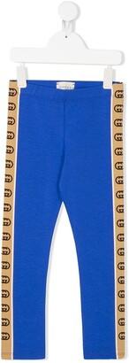 Gucci Kids Interlocking-G side-stripe leggings